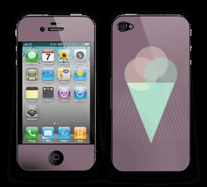 Jäätelö violetti tarrakuori IPhone 4/4s