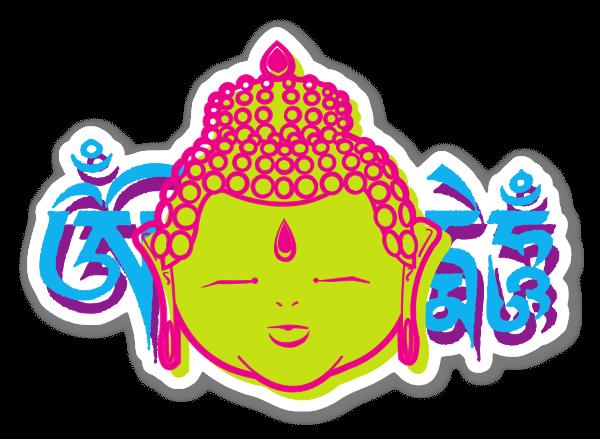 Funky Boeddha sticker