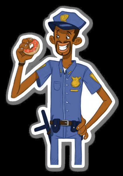 Donut agent sticker
