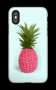 Pinkki ananas kuoret IPhone X tough