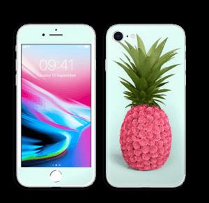 Pinkki ananas tarrakuori IPhone 8