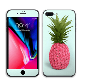 Pinkki ananas tarrakuori IPhone 8 Plus