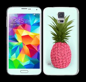 Pinkki ananas tarrakuori Galaxy S5