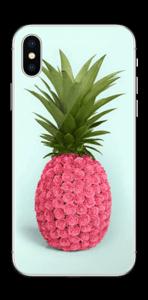 Pinkki ananas tarrakuori IPhone X
