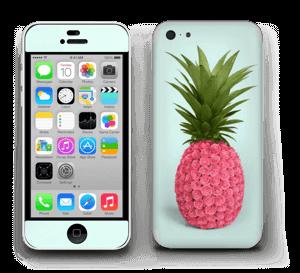 Pinkki ananas tarrakuori IPhone 5c