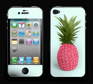 Pinkki ananas tarrakuori IPhone 4/4s