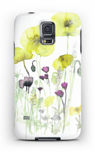 Painted Yellow Flowers case Galaxy S5