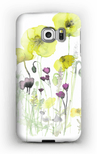 Painted Yellow Flowers case Galaxy S6 Edge