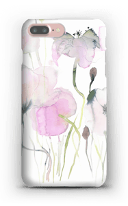 Painted Pink Flowers case IPhone 7 Plus