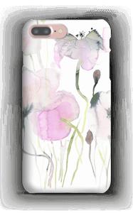 Rosa blomster deksel IPhone 7 Plus