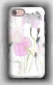 Rosa blomster deksel IPhone 7 tough