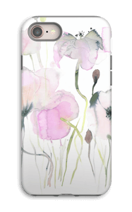 Painted Pink Flowers case IPhone 8 tough