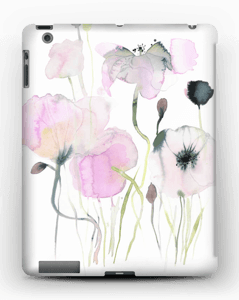Painted Pink Flowers case IPad 4/3/2
