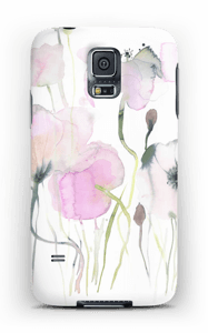 Painted Pink Flowers case Galaxy S5