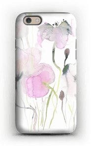 Painted Pink Flowers case IPhone 6 tough