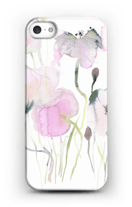 Painted Pink Flowers case IPhone SE