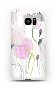Painted Pink Flowers case Galaxy S7 Edge