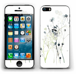Painted Winter Flowers Skin IPhone 5s