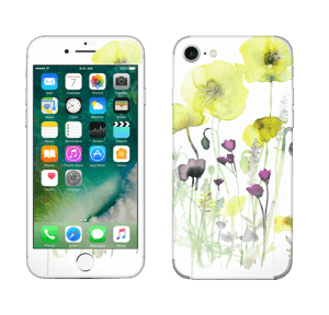 Painted Yellow Flowers Skin IPhone 7