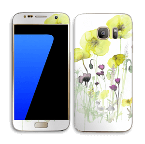 Painted Yellow Flowers Skin Galaxy S7