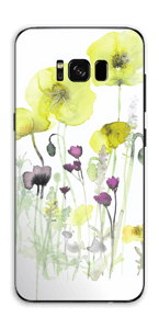 Painted Yellow Flowers Skin Galaxy S8 Plus