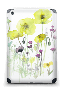 Painted Yellow Flowers Skin IPad mini 2 back