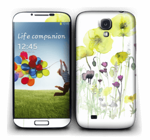 Painted Yellow Flowers Skin Galaxy S4