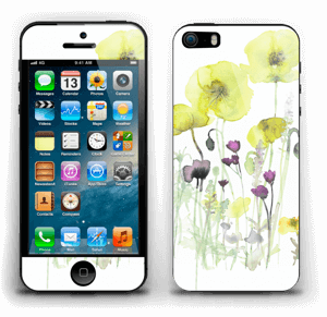 Painted Yellow Flowers Skin IPhone 5s