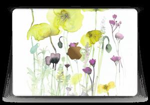 "Painted Yellow Flowers Skin MacBook 12"""