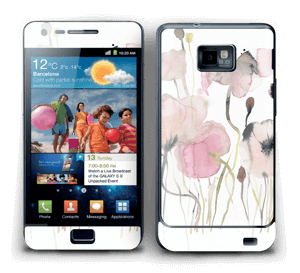 Lyserøde blomster Skin Galaxy S2