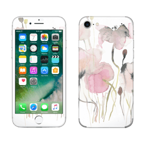 Painted Pink Flowers Skin IPhone 7