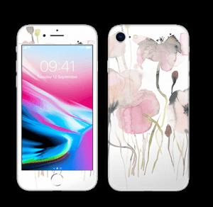 Lyserøde blomster Skin IPhone 8