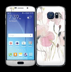 Lyserøde blomster Skin Galaxy S6