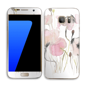 Painted Pink Flowers Skin Galaxy S7
