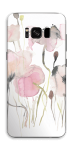 Lyserøde blomster Skin Galaxy S8