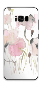 Painted Pink Flowers Skin Galaxy S8 Plus