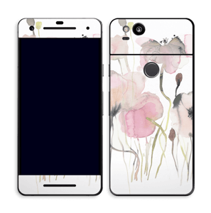Painted Pink Flowers Skin Pixel 2