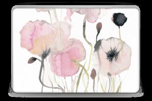 Painted Pink Flowers Skin Laptop 15.6