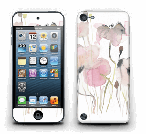 Painted Pink Flowers Skin IPod Touch 5th Gen