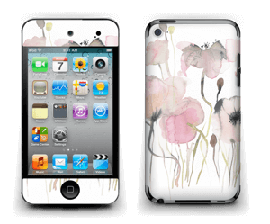 Painted Pink Flowers Skin IPod Touch 4th Gen