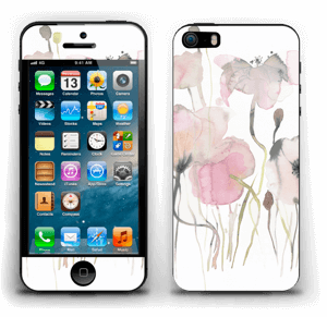 Painted Pink Flowers Skin IPhone 5s