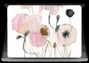"""Painted Pink Flowers Skin MacBook 12"""""""