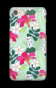 Tropiske blomster cover IPhone 8
