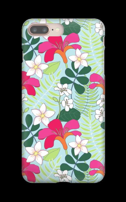 Tropiska blommor skal IPhone 8 Plus a271d59a44d1b