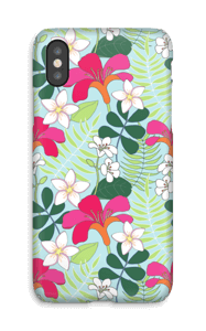 Flores tropicales funda IPhone X