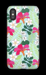 Tropiikin kasvit kuoret IPhone X tough