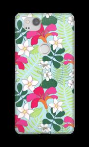 Tropische bloemetjes hoesje Pixel 2
