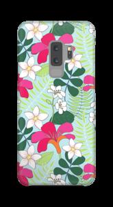 Tropiska blommor skal Galaxy S9 Plus