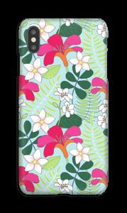 Tropiske blomster deksel IPhone XS Max