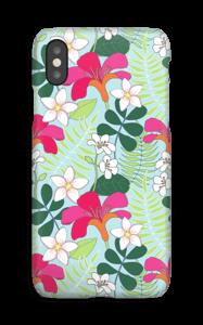 Tropiske blomster deksel IPhone XS